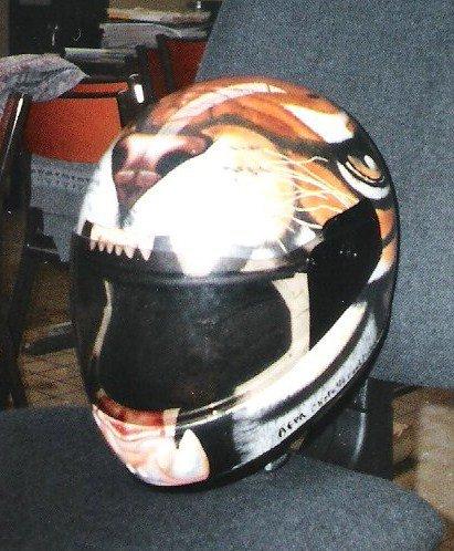 Casque tigre