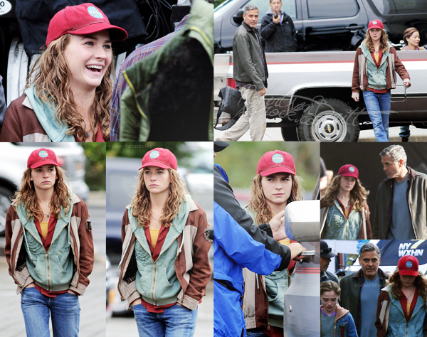 """16.09.2013 : Britt' était actuellement sur  le tournage du film """"Tomorrowland"""" avec G. Clooney, au Canada.  J'aime beaucoup les photos elles sont de très bonne qualité, Britt est toujours parfaite , j'ai super hâte de voir les teaser !"""