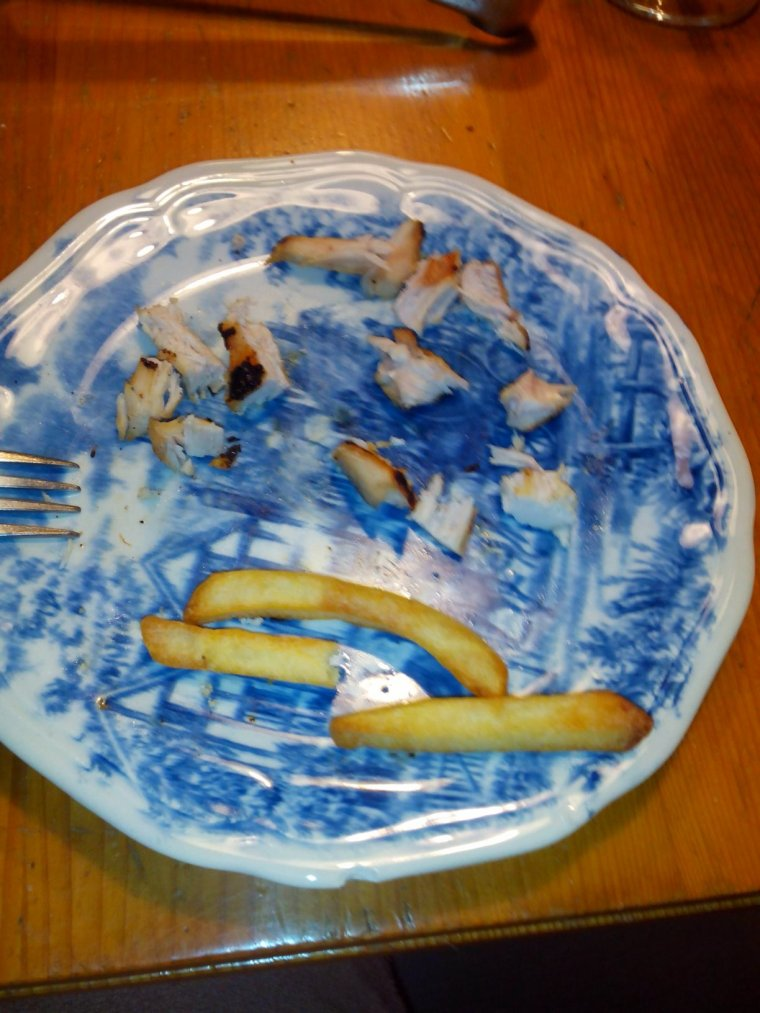 Poulet frite ce midi