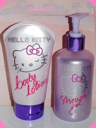 Gel douche et lait pour le corps Hello Kitty