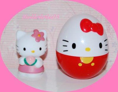 Oeuf surprise avec Hello Kitty pêche