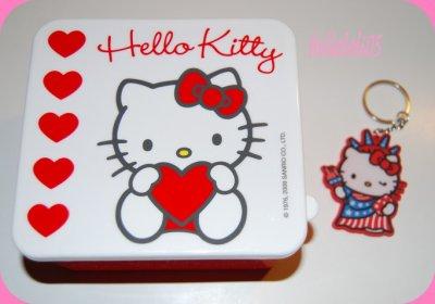 Boîte + porte-clef Hello Kitty New York
