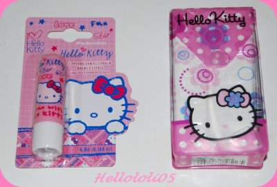 Kleenex et Baume Hello Kitty