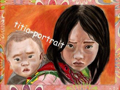 portrait pastel enfant du monde