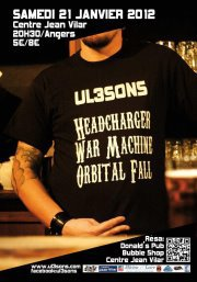 UL3SONS  soirée metal (headcharger , war machine , orbital fall) \m/