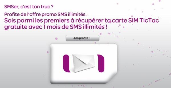 PROMO : SMS et Internet ILLIMITES pendant 1 mois