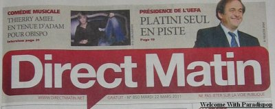 Article DIRECT MATIN ce mardi 22 mars 2011