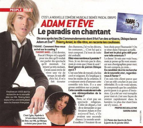 Thierry Amiel en interview pour Adam & Eve