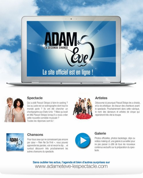 Le site Internet OFFICIEL Adam et Eve le spectacle