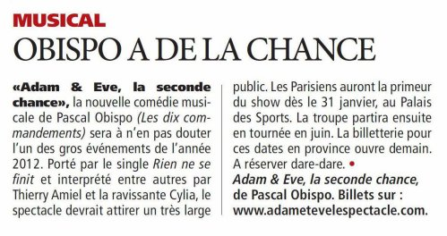 "Direct Matin "" Obispo a de la chance """