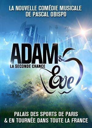 La nouvelle affiche de la comédie musicale Adam et Eve