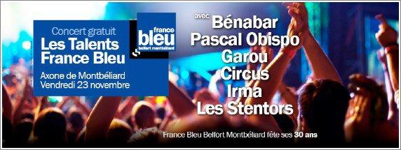 LIVE : Concert Evènement France Bleu le 23 Novembre