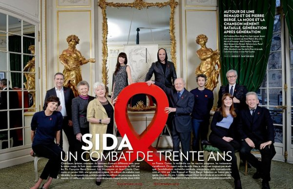 Le SIDACTION a 30 ans ! article PARIS MATCH - @ObispoPascal