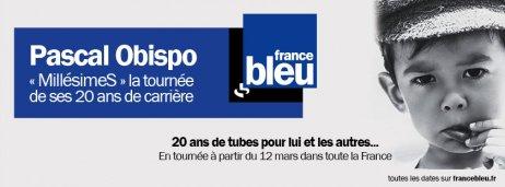 FRANCE BLEU vous offre LE Concert Privé le 11 Mars à Paris @ObispoPascal