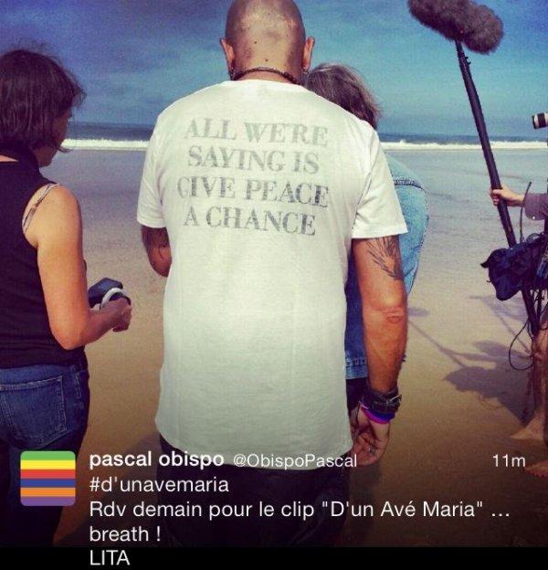 VIDEO #DunAvéMaria le clip d' @ObispoPascal  - 1er extrait #LeGrandAmour