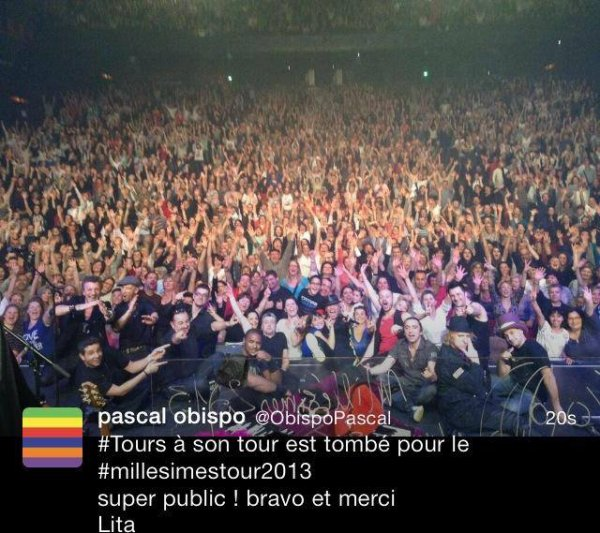 Chateaudun, Tours, Vierzon, Nevers, Troyes bercés par #MillésimeSTour2013 @ObispoPascal