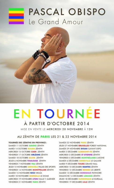 Voici les dates complètes de la Tournée #LeGrandAmour @ObispoPascal