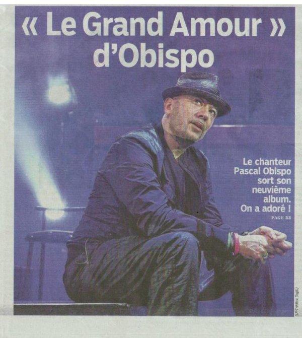 NEWS @ObispoPascal à la UNE du @Le_Parisien ce lundi 2 Décembre sortie #LeGrandAmour