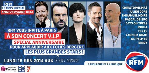Gagnez vos places pour le concert VIP @RFMFrance avec @ObispoPascal