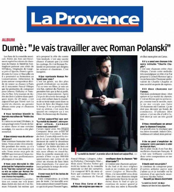 L'album de @DumeOfficiel dans les bacs avec @ObispoPascal #LionelFlorence ...