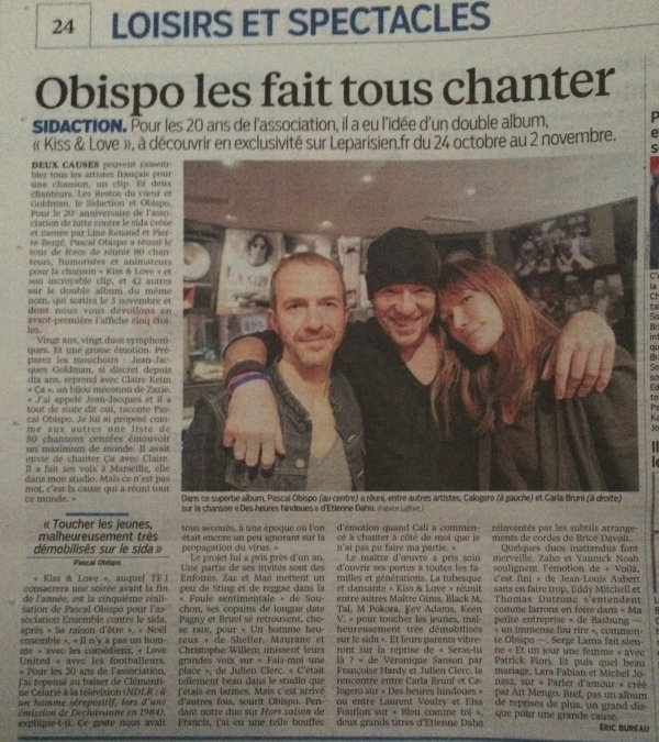 J-1 #KissAndLove l'album Evènement #Sidaction 20 ans on en parle - by @ObispoPascal - @Paradispop