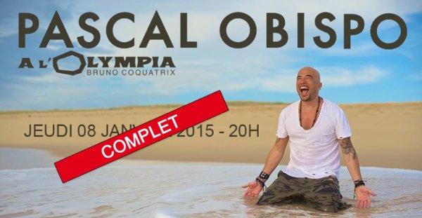 @ObispoPascal fete ses 50 ans a @OlympiaHall COMPLET en quelques minutes