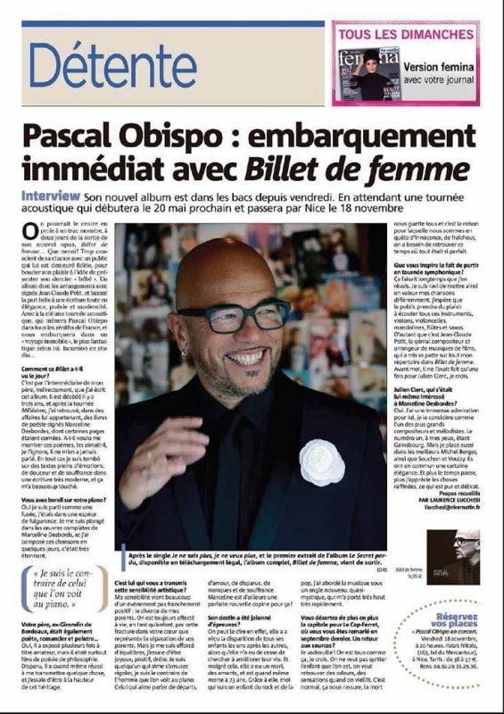 revue de presse avec sortie de #BilletDeFemme @ObispoPascal