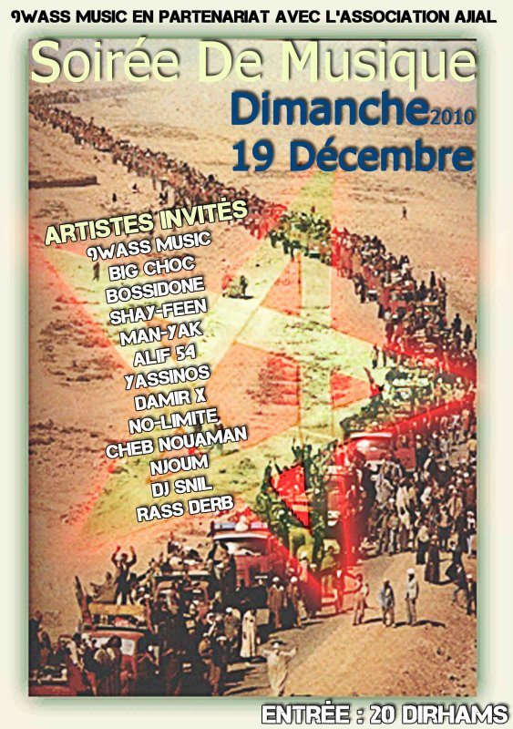 Big Choc En Concert Le 19/12/2010 à La Grande Salle des Sports (Safi-Plateau)