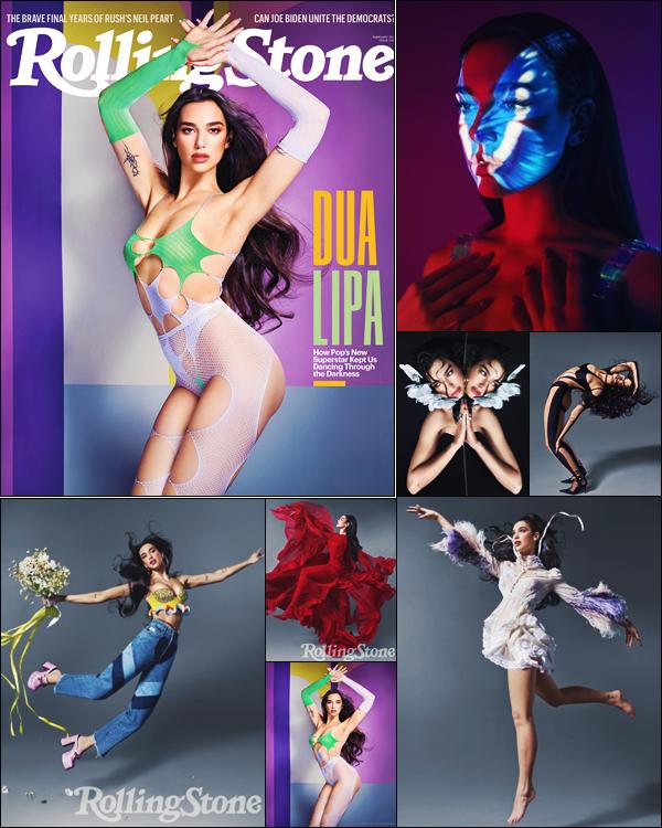 .• • PHOTOSHOOT// Dua Lipa a donc posé pour la couverture du  « Rolling Stone » - 02/2021! .