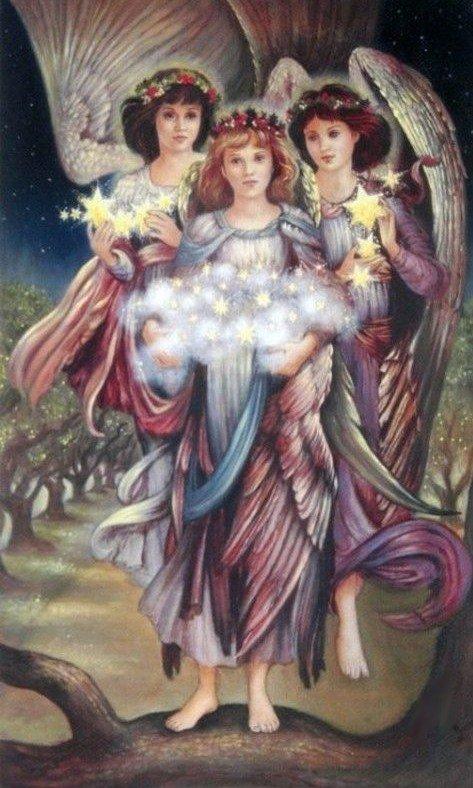 Les Anges sont arrivés en cette heureuse année pour apporter de bonnes résolutions à tous les êtres de la Terre.
