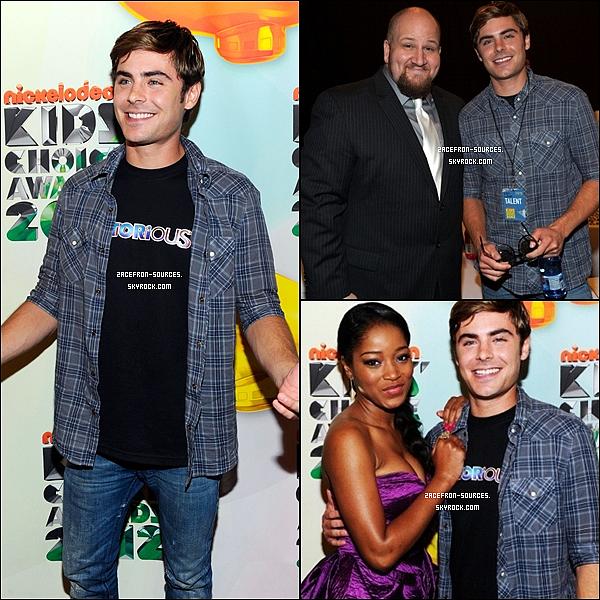 02.04.2012 : Zac était présent a la cérémonie des Kids Choices Awards. J'aime bien la tenue de Zac moi je lui donne un Top et Vous ?