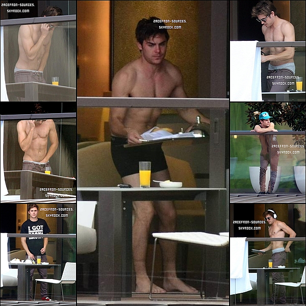 09.04.2012 : Zac à son hôtel de Sydney (Australie)