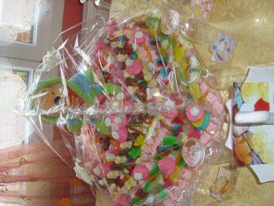 voici les gateaux en bonbon que je fait