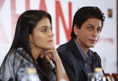 Shahrukh et Kajol à une conférance de presse pour MNIK