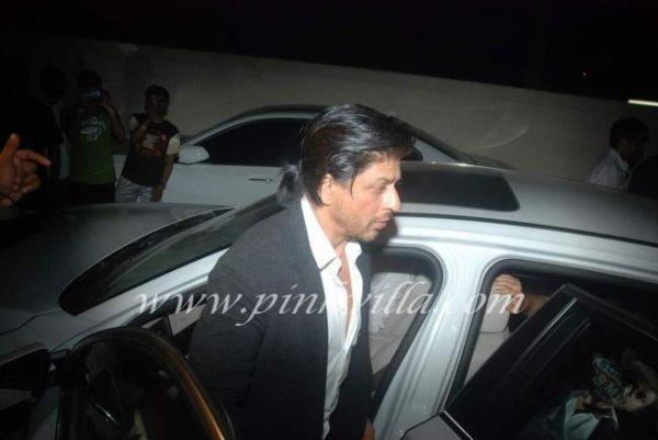 Shahrukh Khan, Priyanka Chopra et Farhan Akthar à la projection de Don 2 à Mumbai