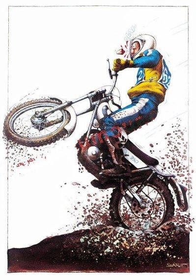 Dessin de serre trial en ancienne - Dessin moto trial ...