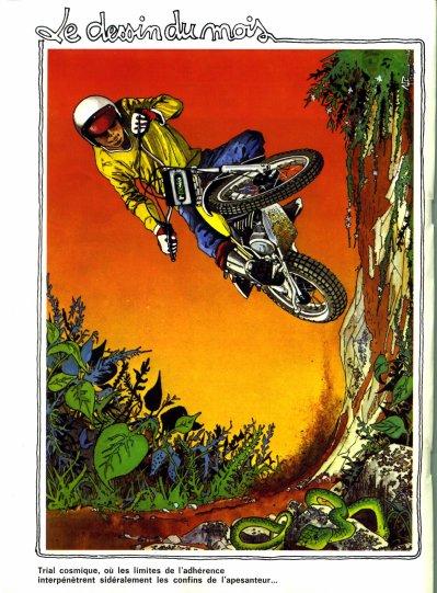 Dessin du magazine moto verte des annees 70 39 s trial en - Dessin moto trial ...