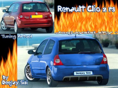 Renault Clio 2 Rs Tuning Virtuel Photoshop Passion And