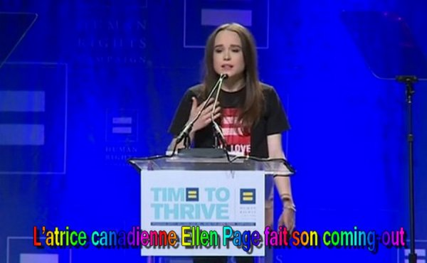 Actualité.....L'atrice canadienne Ellen Page fait son coming-out