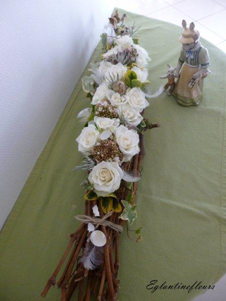 Sarments de vignes et petites roses...