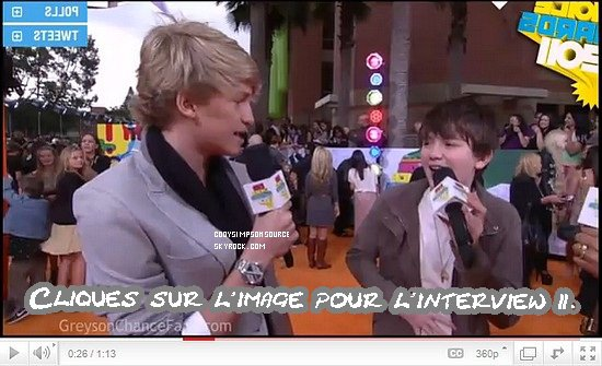 Cody aux Kids Choice Awards 2011!