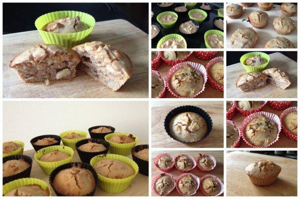 Muffins à la pomme, cannelle & farine de châtaigne