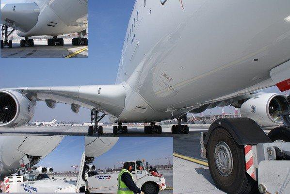 Apr s refoulement il faut tracter l 39 avion sur une vintgtaine de m tres notre a380 afin de - C est interdit dans l avion ...