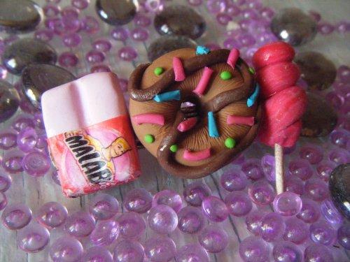 Barrette Malabar /Donut's / Sucette de foire
