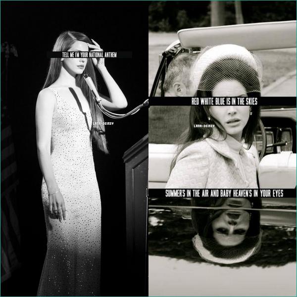 """Voici deux nouveaux """"stills""""  de Lana dans son prochain clip """"National Anthem"""" !"""