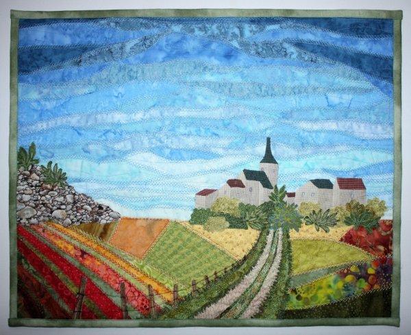 paysage en art textile