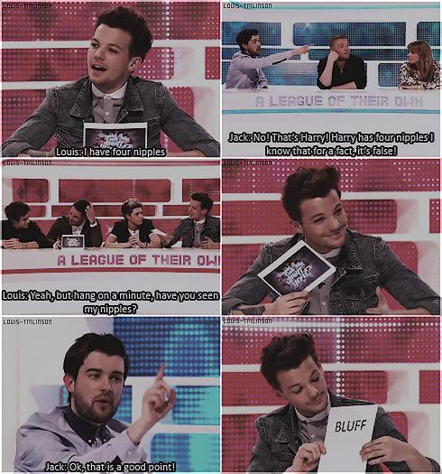 _ Louis, Harry et Niall ont participé à l'émission 'A League Of Their Own' de James Colden._