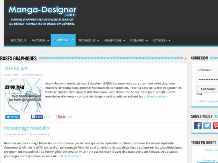 Manga-Designer.com, un site parfait pour apprendre à dessiner !