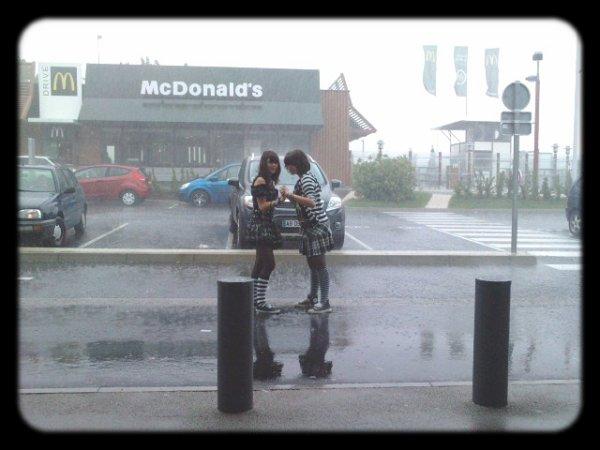 Quand La conerie est tombé du ciel , J'avais oublié mon parapluie =)