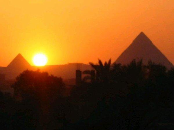 Petit coucher de soleil sublime reflet